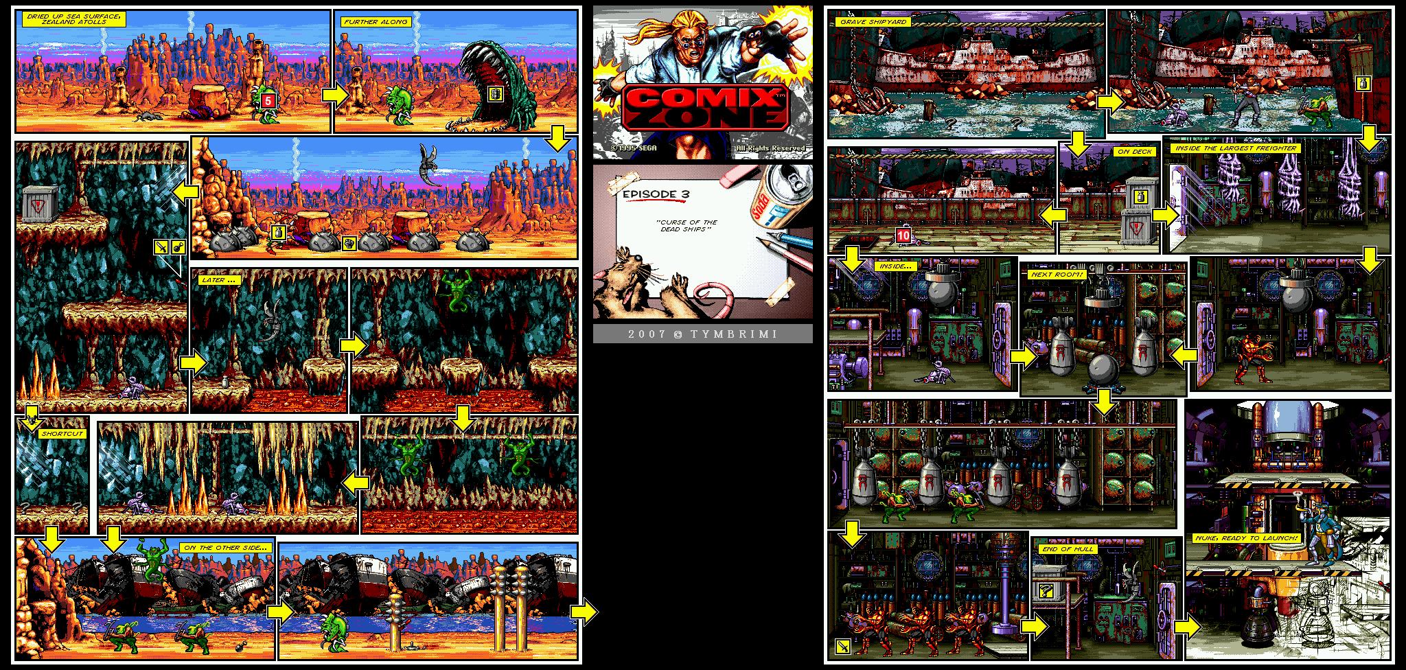 [Análise Retro Game] - Comix Zone - Genesis ComixZone-Episode3-CurseOfTheDeadShips